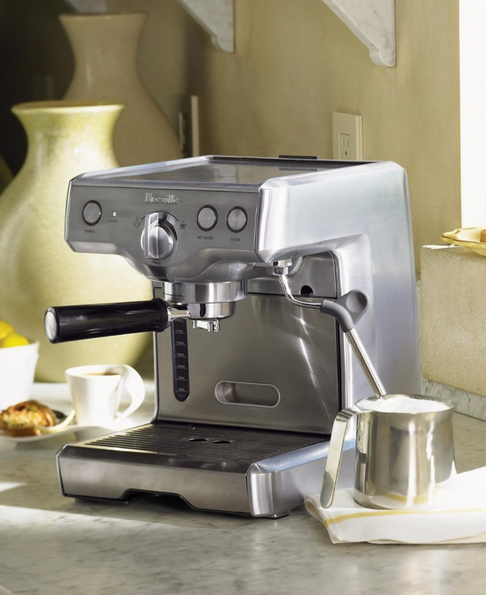 review breville espresso machines 800esxl. Black Bedroom Furniture Sets. Home Design Ideas